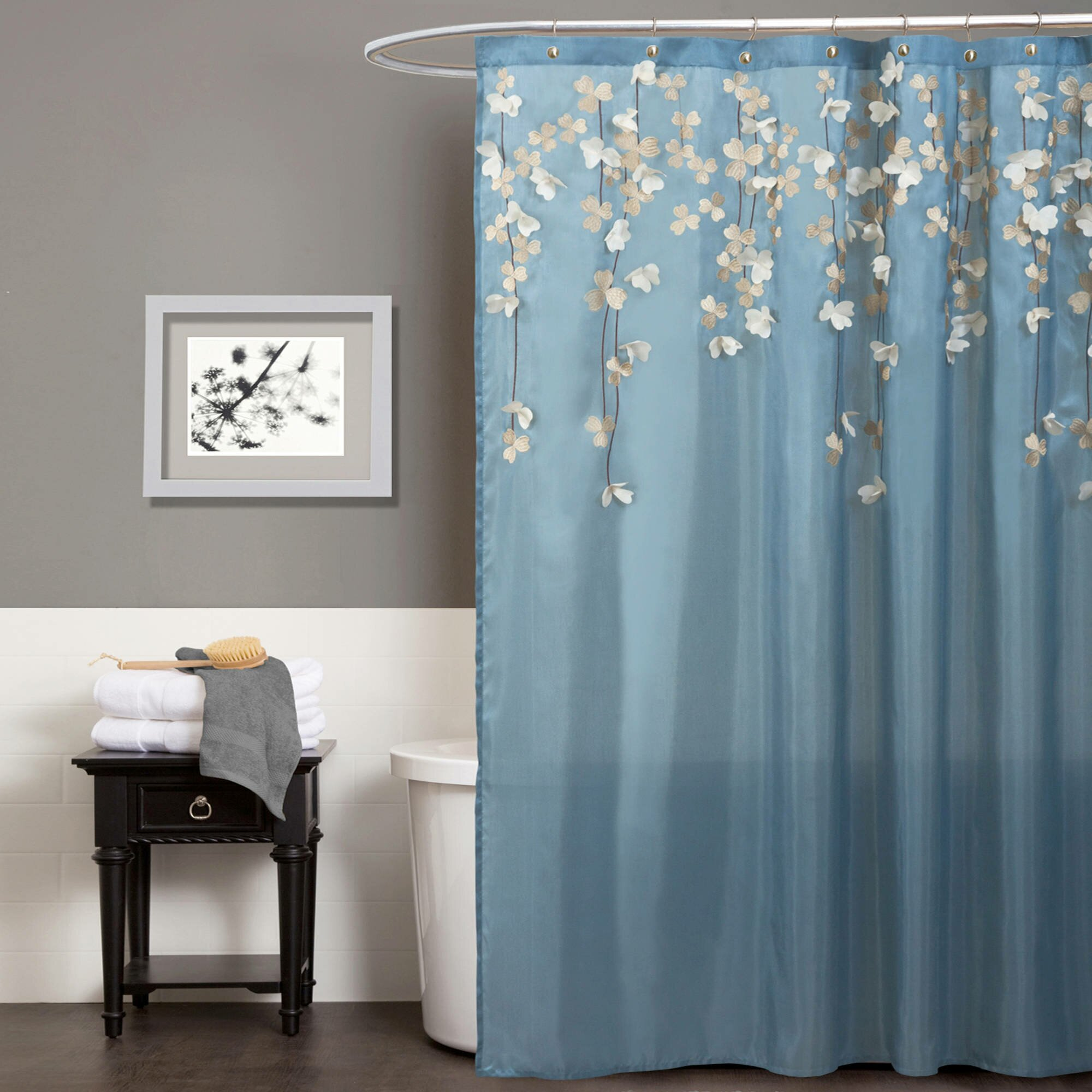 Curtain walmart shower curtain wal mart shower curtains for Cheap bathroom decor