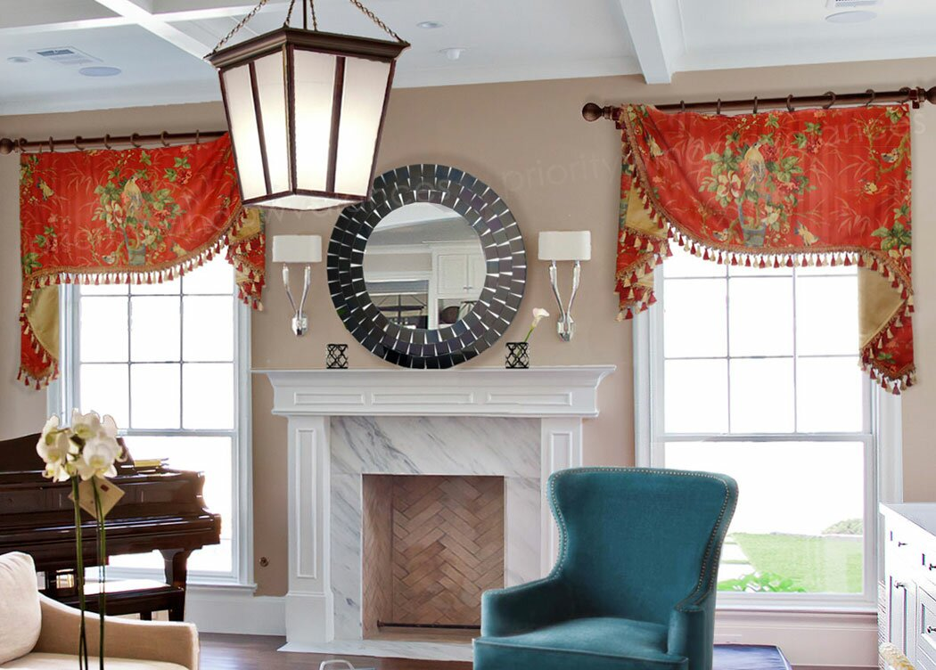 Window Curtains and Valances | Living Room Valances | Window Coverings Valances