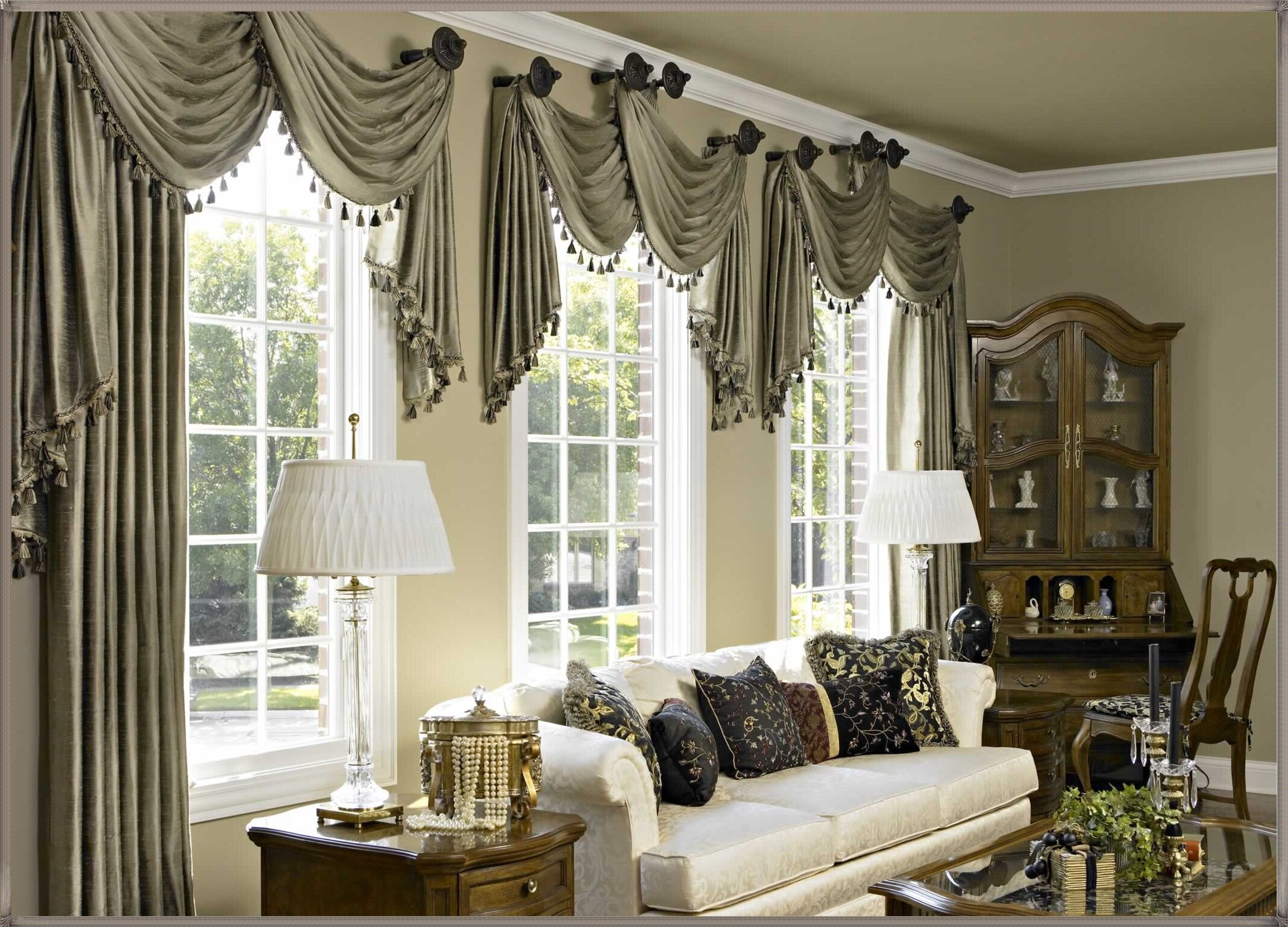 Window Treatment Valances | Window Valances for Living Room | Living Room Valances
