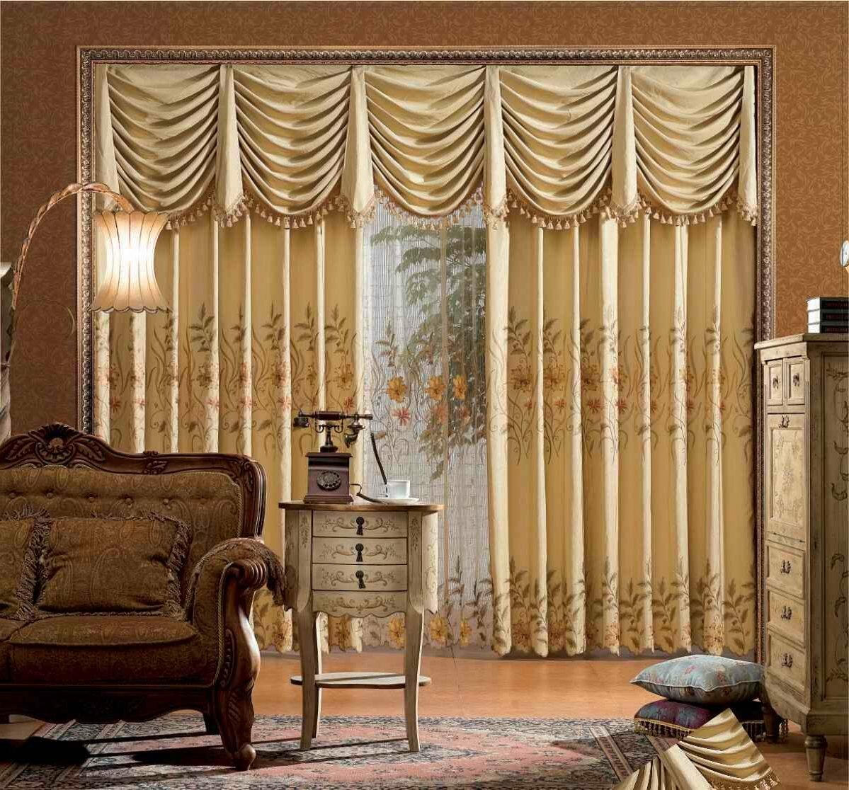 Window Treatments with Valances | Livingroom Valances | Living Room Valances